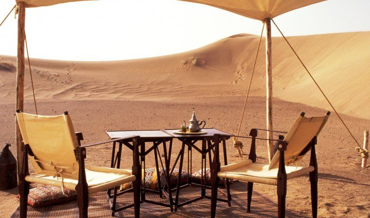 Private luxury desert camp during luxury Morocco trip