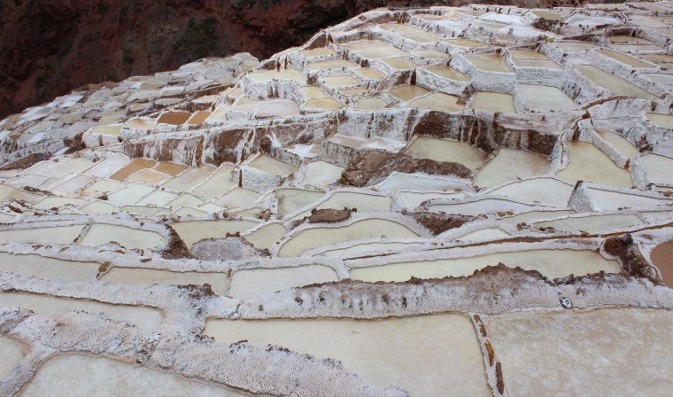 Maras salt terraces during luxury Peru tour