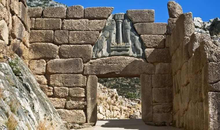 Lions Gate of Mycenae during luxury Greece tour