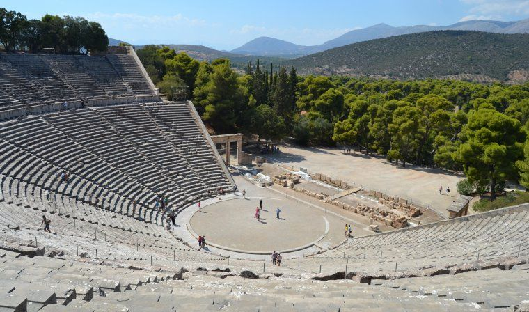 Epidaurus theatre during luxury Greece tour