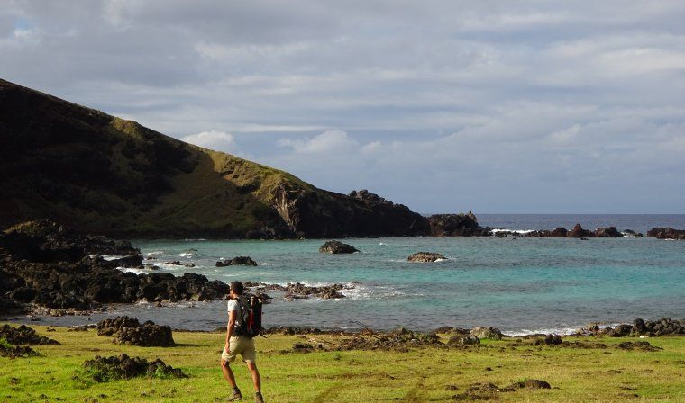 Private hiking expedition during luxury Easter Island tour