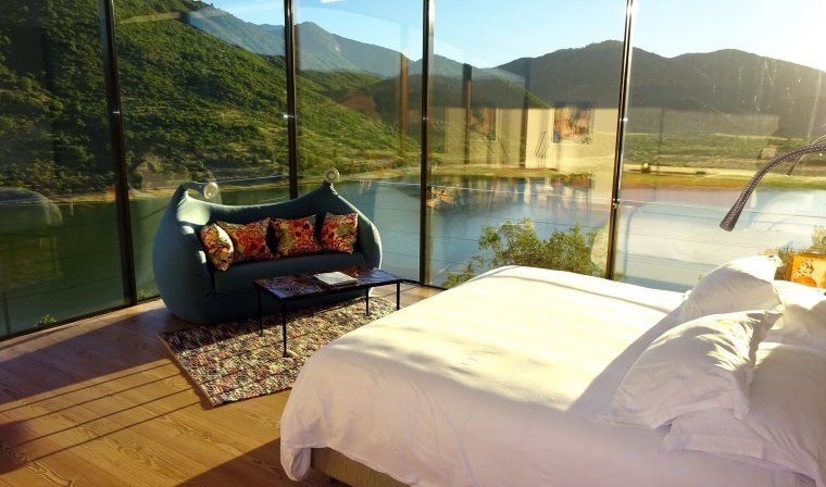 Bedroom suite at Vina Vik during luxury Chile tour