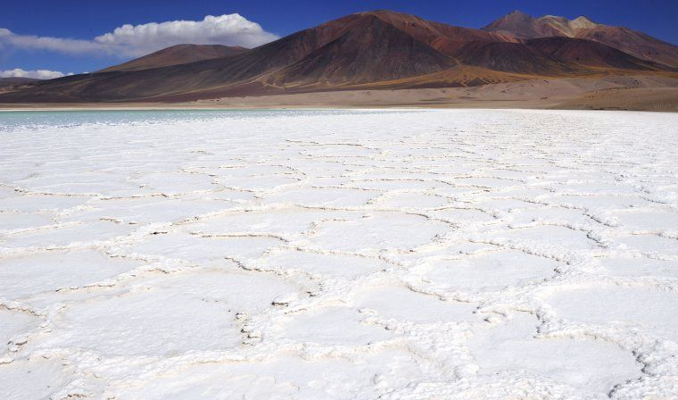 Salt pans in Atacama Desert during luxury Chile tour