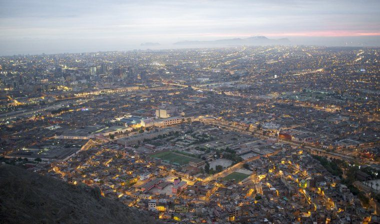 Aerial view of Lima during luxury Peru tour