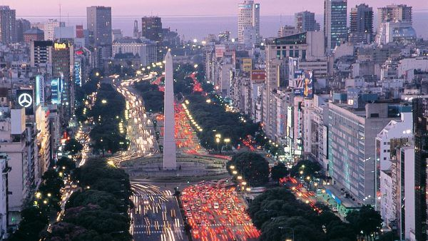 birds eye view of buenos aires during luxury travel argentina