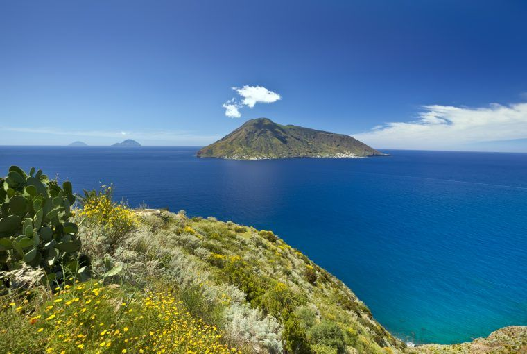view of stromboli volcano on aeolian island hike on luxury sicily tour