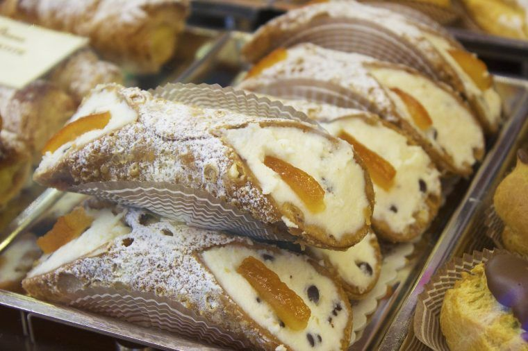 close up of cannoli on a private sicily tour